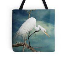 Evangeline Parish Egret Tote Bag