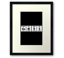Periodic GeNiUS Framed Print