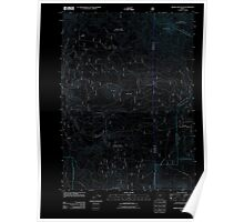 USGS Topo Map Oregon Brown Mountain 20110808 TM Inverted Poster