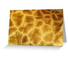 Giraffe Skin Pattern Greeting Card