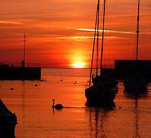 Yacht at Sunrise  by Aoife McNulty