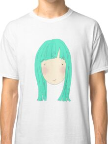 Girl With Fringe In Blue Classic T-Shirt