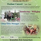 Greenshire Arts Flier by GongThePlanet