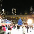 Bryant Park Skating Rink, New York  by lenspiro