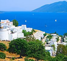 Landscape  sea, city Bodrum by Medeu