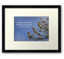 Haiku Branches Framed Print