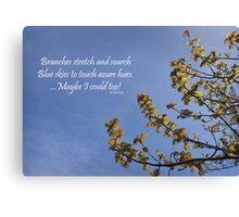 Haiku Branches Canvas Print