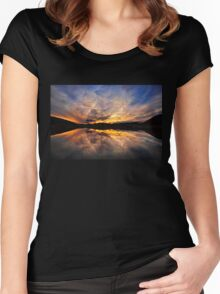 Sunset reflections  Women's Fitted Scoop T-Shirt