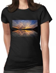 Sunset reflections  Womens Fitted T-Shirt