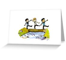 Maze Runner and Hobbes Greeting Card