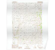 USGS Topo Map Oregon Lawrence Creek 280486 1988 24000 Poster