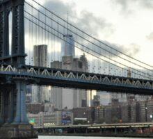 City Lights and Manhattan Bridge Sticker