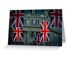 London. Regent Street. Royal Wedding Flags. Greeting Card
