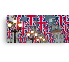 London. Regent Street. Royal Wedding Flags. (Alan Copson ©) Canvas Print