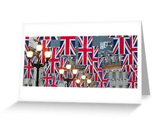 London. Regent Street. Royal Wedding Flags. (Alan Copson ©) Greeting Card
