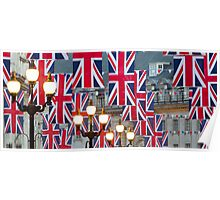 London. Regent Street. Royal Wedding Flags. (Alan Copson ©) Poster