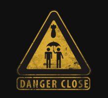 Caution Danger Close Sign by Arno Van Den Bossche