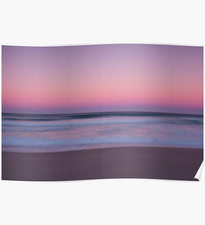 Sunrise, Coorong beach, South Australia Poster