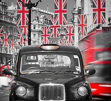 UK. London. Regent Street. Union Jack decorations for Royal Wedding.(Alan Copson ©) by Alan Copson