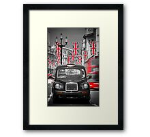 UK. London. Regent Street. Union Jack decorations for Royal Wedding.(Alan Copson ©) Framed Print