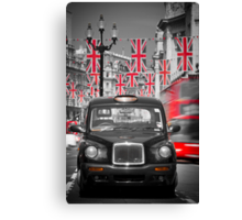 UK. London. Regent Street. Union Jack decorations for Royal Wedding.(Alan Copson ©) Canvas Print