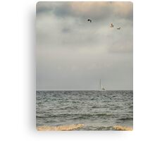 Sailboat Along the Shore Canvas Print
