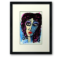 The Lady Blues Framed Print