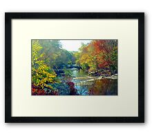 Autumn Foliage in Connecticut Framed Print