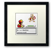 Pokemon Mewtwo battle  Framed Print