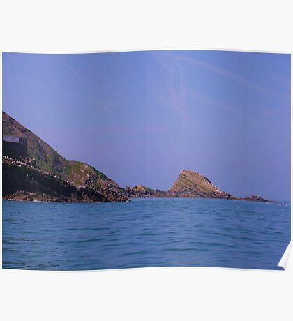 coastal rocks Poster