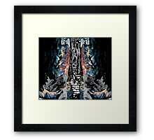 Grungy Forest Framed Print
