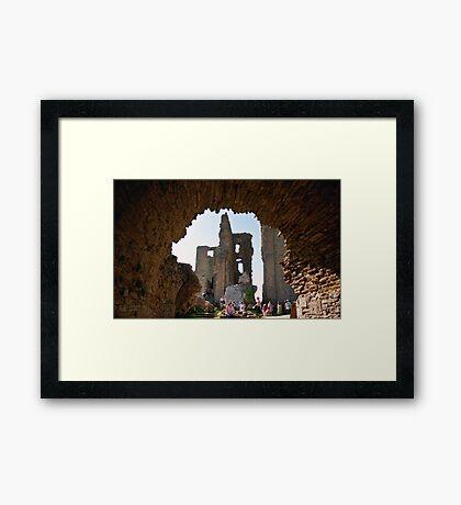 Corfe Castle Arch Framed Print