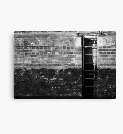 Ladder in the Lock Canvas Print