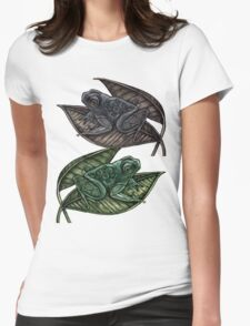 Tree Frogs Womens Fitted T-Shirt