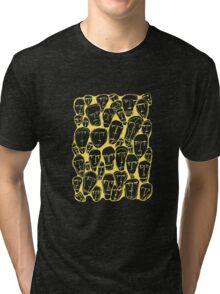 Caras amarillas Tri-blend T-Shirt