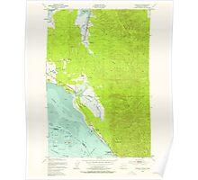 USGS Topo Map Washington Chinook 240495 1949 24000 Poster