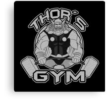 Thor Gym Fitness Canvas Print