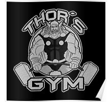 Thor Gym Fitness Poster