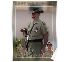 Standing Guard Anzac Day Taree 2011 Poster