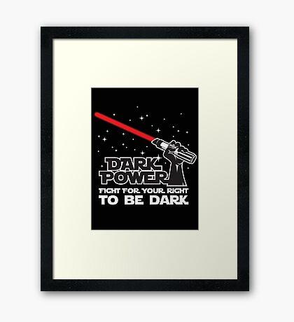 Dark power Framed Print