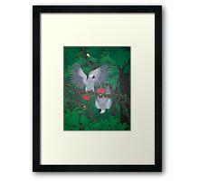 Playful Greys - African Grey Parrots Framed Print