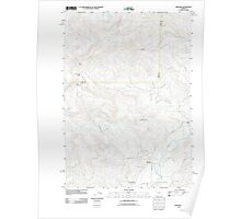 USGS Topo Map Oregon Mohawk 20110816 TM Poster