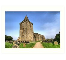 St Oswald's Church, Lythe Art Print