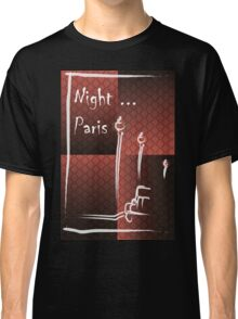 Illustration of a boulevard in Paris at night. For t-shirt or other uses,in vector - stock vector Classic T-Shirt