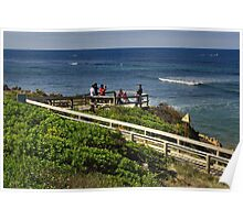 Lookout at Point Danger - Torquay Poster