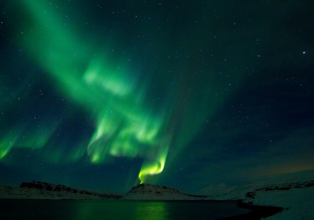 Aurora Volcano in Hvalfjordur by kursk