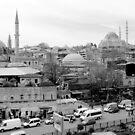 Colorful city in black & white: Istanbul by bubblehex08
