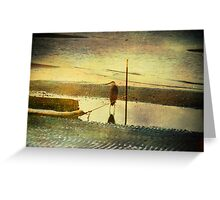 Alone on the Shore Greeting Card