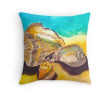 Shells in Paradise Throw Pillow