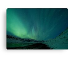 Green Sky over Hvalfjordur Canvas Print